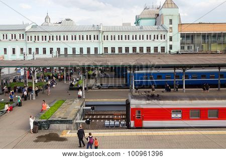 Belarusian Railway Station In Moscow, Russia