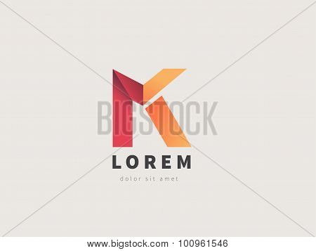 Creative Logo Design, Letter K. Colorful Vector Logotype. Trendy Business Elements.