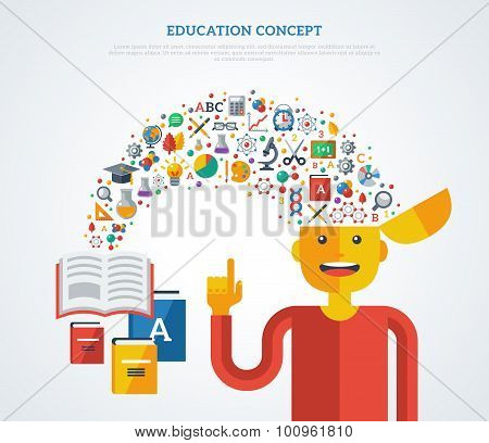 Creative concept of education.
