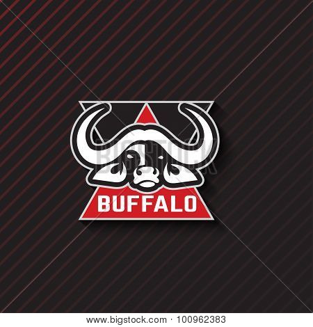 Stylized Emblem Of A Buffalo. Artistic Creative Idea. Animals Logo Design Template. Vector Illustrat