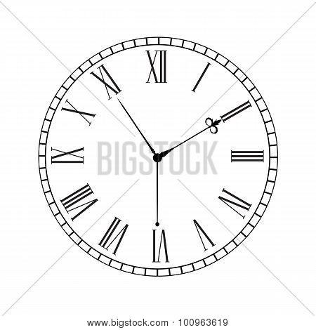 Vintage old clock dial