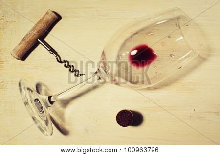 Residue Of Red Wine