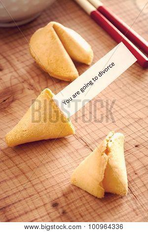 Misfortune Cookie With Divorce Message