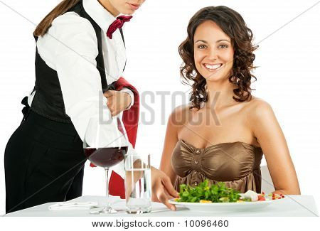 Smiling Woman Restaurant