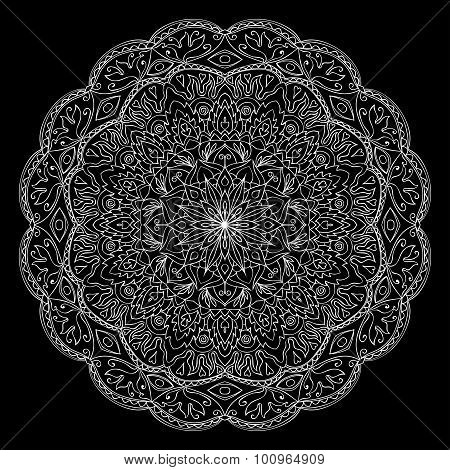 Lace Round Ornament.