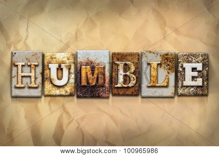 Humble Concept Rusted Metal Type