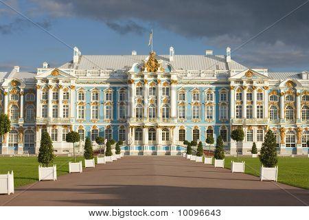 Catherine Palace in Tsarskoe Selo, Russia