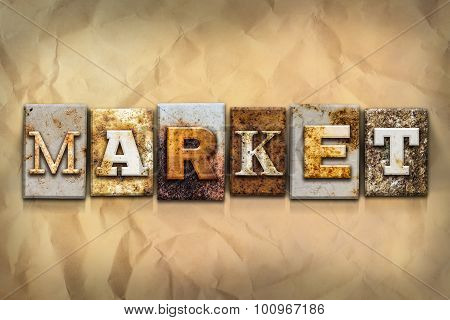Market Concept Rusted Metal Type