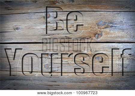 Engraved Be Yourself