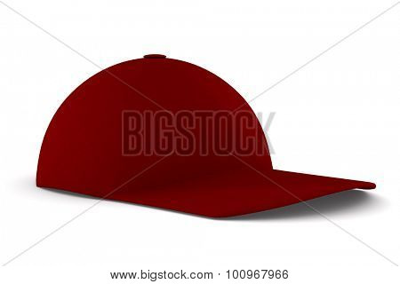 baseball cap on white background. Isolated 3D image
