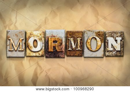 Mormon Concept Rusted Metal Type