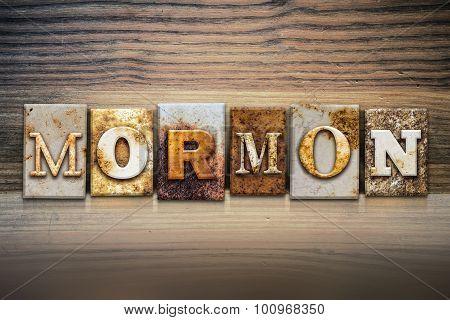 Mormon Concept Letterpress Theme