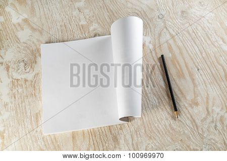Brochure And Pencil