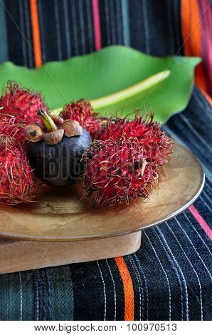 Mangosteen With Rambutan