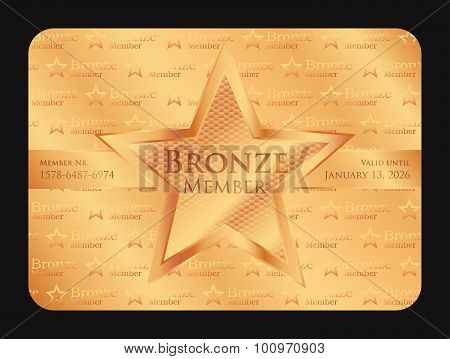 Bronze Member Club Card With Big Star