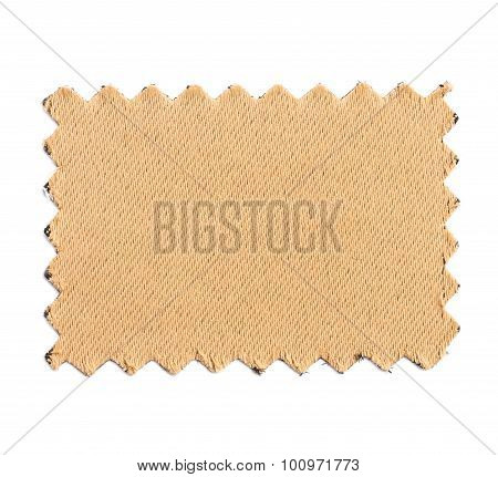 Piece Of Sample Color Fabric Isolated On White