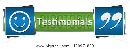 Testimonials Green Blue Horizontal
