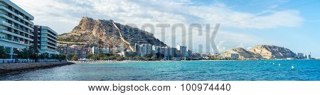 Alicante, Spain coastline in summer