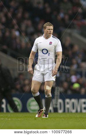TWICKENHAM LONDON, 20 NOVEMBER 2010. England's Chris Ashton,  during the Investec International match between England and Samoa at Twickenham Stadium Middlesex England.