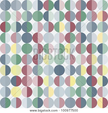 Geometric Abstract Background With Circles