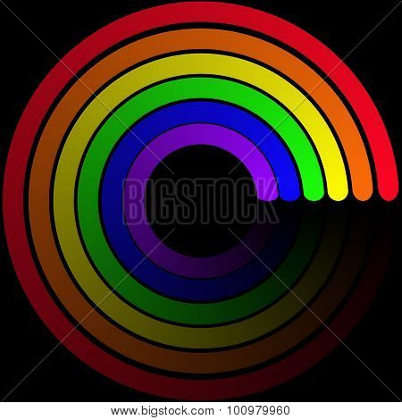 Of Six-stripe Rainbow Symbol