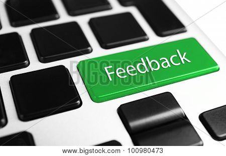 Close up of Feedback keyboard button