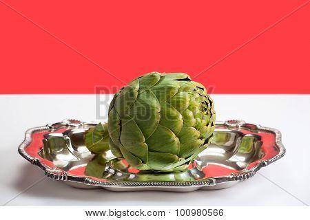 Artichoke on a platter