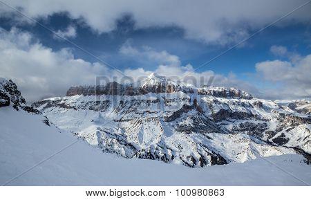 Dolomites mountain in the Italian Alps.