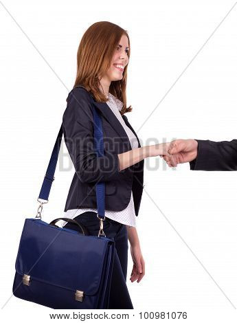 Portrait of charismatic female business person