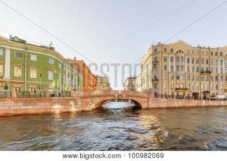 Saint Petersburg/Russia - August 01, 2015: view Of The Moyka River