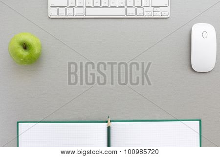 Working space in grey-green