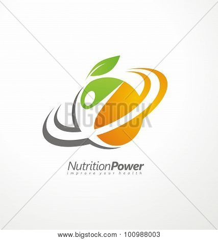 Organic Health Food creative symbol layout