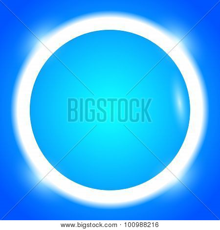 Round-frame-your-message-bright-blue-button
