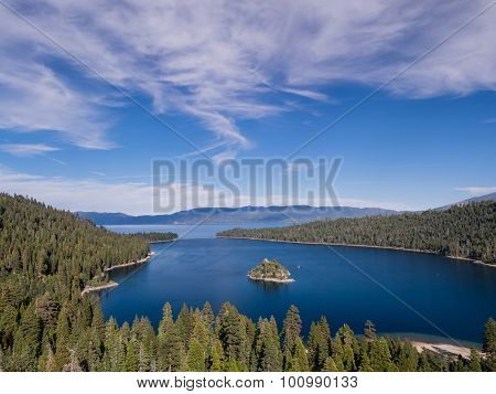Lake Tahoe, Emerald Bay And Fannette Island