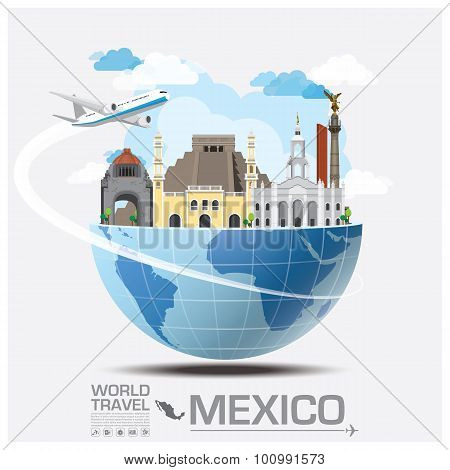 Mexico Landmark Global Travel And Journey Infographic