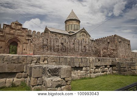 Svetitskhoveli Cathedral (the Living Pillar Cathedral) In Mtskheta, Georgia