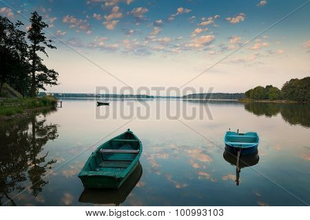 rowing boats on the Lake Elk