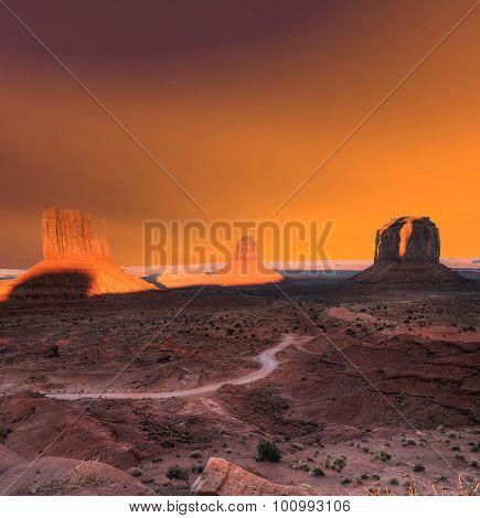 Sunset Skies Monument Valley Arizona