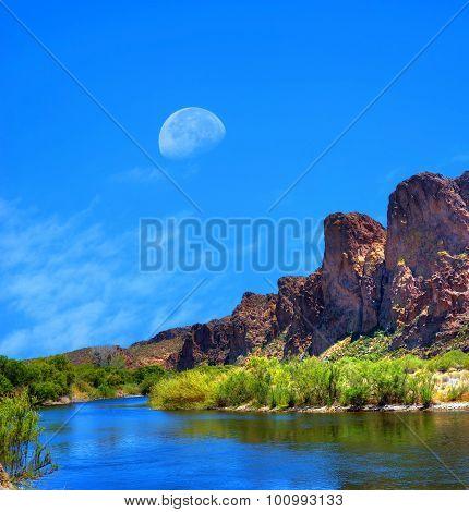 Salt River Arizona Moon