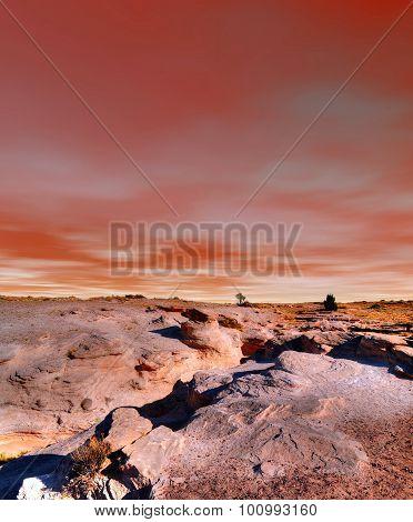Sunset Petrified Forest Arizona
