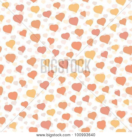 Background with hearts. Seamless pattern. Tender colored texture.