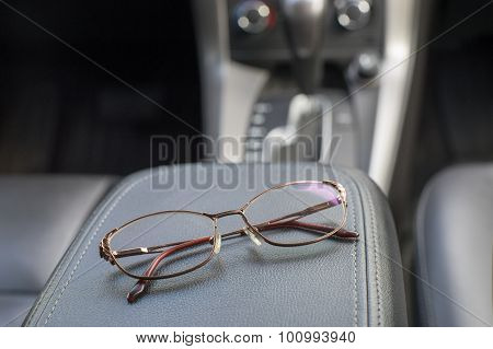 Night Driving Glasses In Car Interior