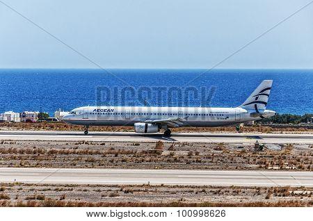 Santorini Departure Aegean Air