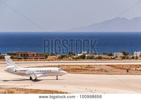 Santorini Departure Private Jet