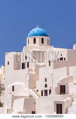 Santorini Oia Church And Apartments