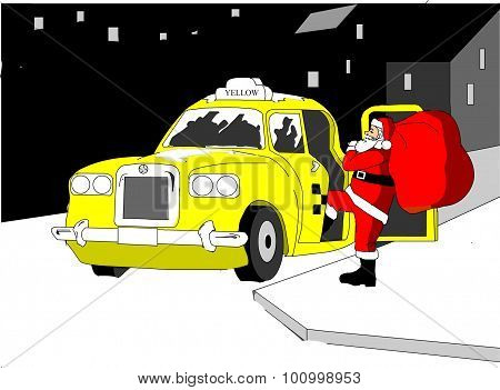 Santa Claus in yellow
