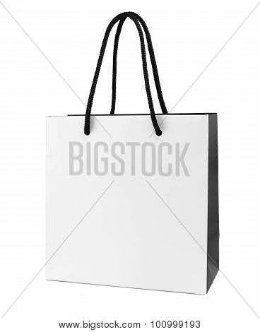 White And Black Paper Shopping Bag