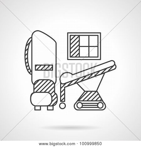 Thin line vector icon medical equipment