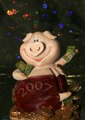 2007 Pigs Symbol And Toys Pig From Bank poster