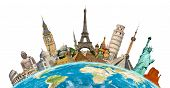 Постер, плакат: Famous Monuments Of The World